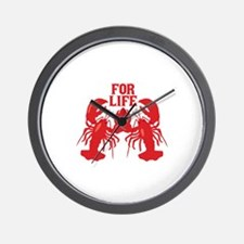 Lobsters Mate For Life Wall Clock