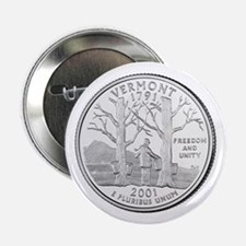 """Vermont State Quarter 2.25"""" Button (10 pack)"""