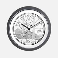 Vermont State Quarter Wall Clock