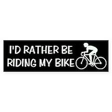 Riding My Bike Bumper Bumper Sticker