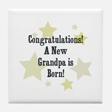 Congratulations! A New Grandp Tile Coaster