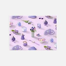 Girl's Purple Dream 5'x7'Area Rug