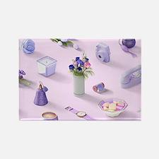 Girl's Purple Dream Rectangle Magnet