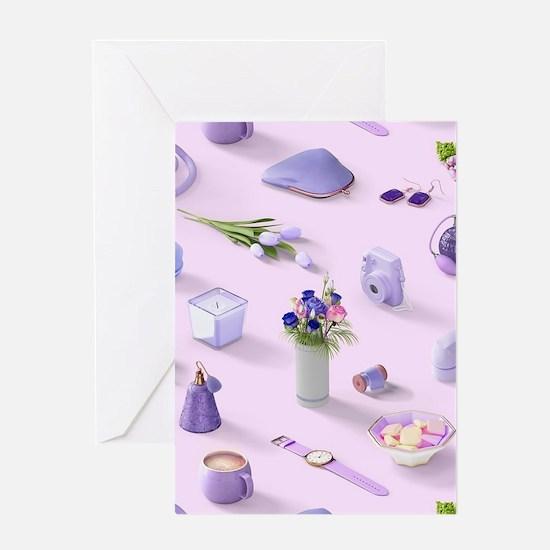 Girl's Purple Dream Greeting Card