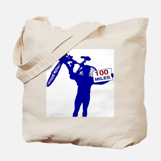 Funny 100 miles Tote Bag