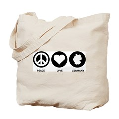 Peace Love Germany Tote Bag