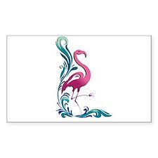 Flamingo Motif Rectangle Decal
