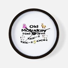 Old McAudrey Had a Farm Wall Clock