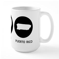Peace Love Puerto Rico Mug