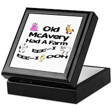 Old McAvery Had a Farm Keepsake Box
