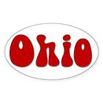Hippie Ohio Oval Sticker