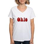Hippie Ohio Women's V-Neck T-Shirt