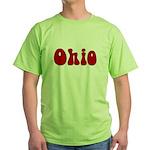 Hippie Ohio Green T-Shirt