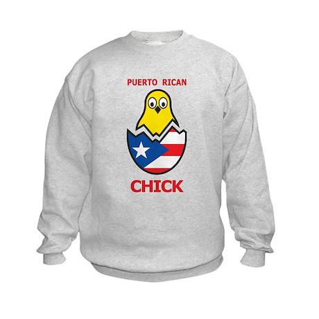 Puerto Rican Chick Kids Sweatshirt