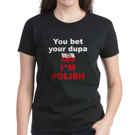 Polish Dupa 4 Women's Dark T-Shirt