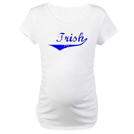 Trish Vintage (Blue) Maternity T-Shirt