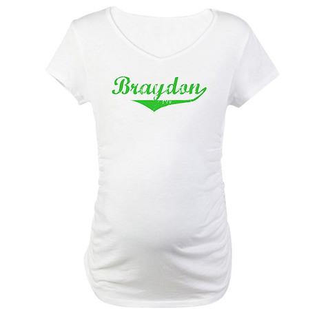 Braydon Vintage (Green) Maternity T-Shirt