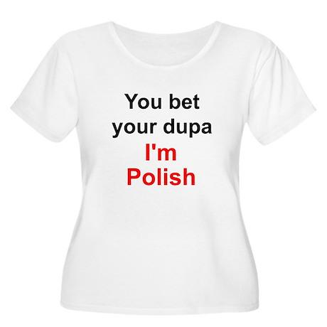 Polish Dupa 2 Women's Plus Size Scoop Neck T-Shirt