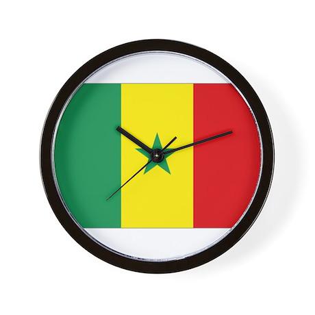 Senegal flag Wall Clock