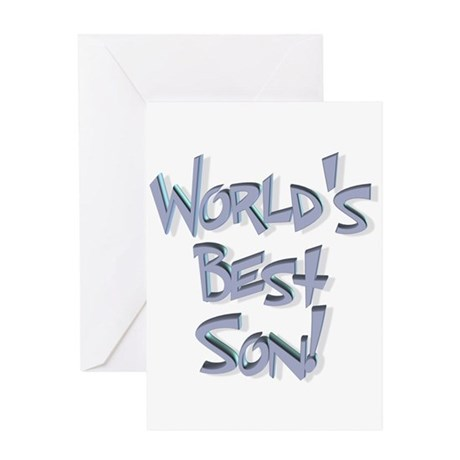 World's Best Son Greeting Card