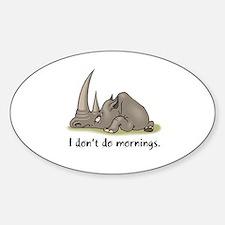 Lazy Rhino Oval Decal