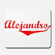 Alejandro Vintage (Red) Mousepad