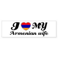 I love my Armenian wife Bumper Bumper Sticker