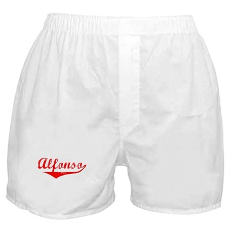 Alfonso Vintage (Red) Boxer Shorts