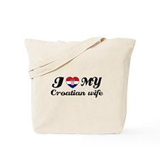 I love my Croatian wife Tote Bag