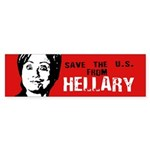 Save us from Hellary Bumper Bumper Sticker