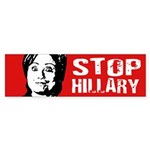 Stop Hillary Bumper Sticker Bumper Sticker
