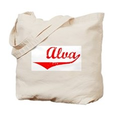 Alva Vintage (Red) Tote Bag