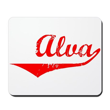 Alva Vintage (Red) Mousepad
