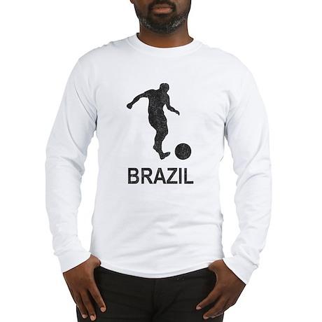 Vintage Brazil Soccer Long Sleeve T-Shirt