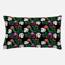 black Sugar Skull Pillow Case