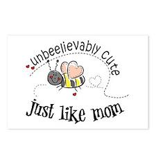Unbeelievably cute just like mom Postcards (Packag