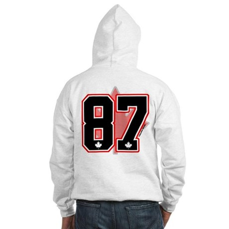 *CUSTOM Black* Canada Hockey 87 Hooded Sweatshirt