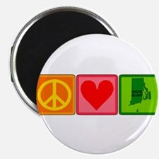 Peace Love Rhode Island Magnets