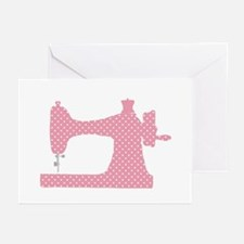 Polka Dot Sewing Machine Greeting Cards