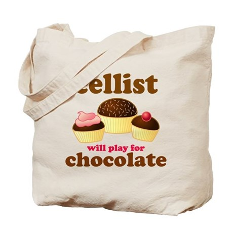 Cellist Chocolate Tote Bag