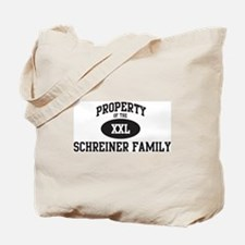 Property of Schreiner Family Tote Bag