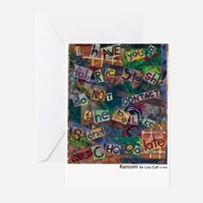 Ransom Note Art Quilt Greeting Cards