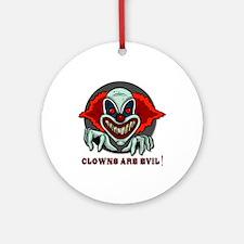 Clowns are Evil Keepsake (Round)