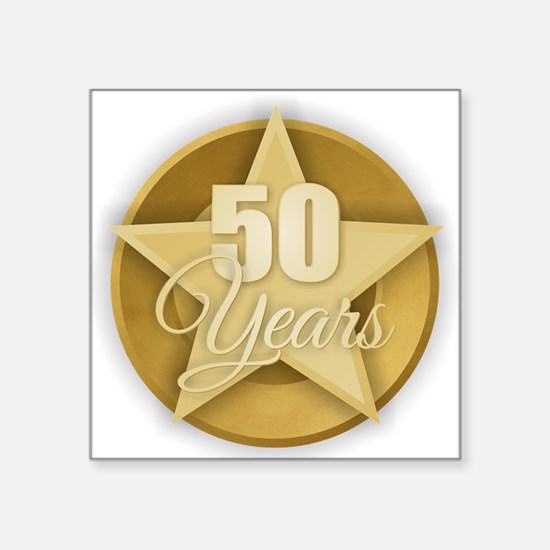 Gold 50 Years Sticker