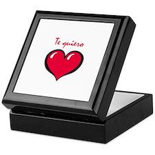 Te quiero Keepsake Box