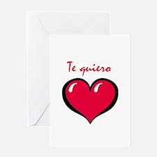 Te quiero Greeting Card