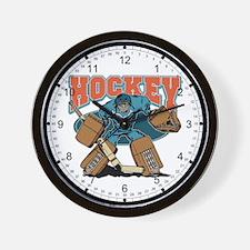 Cross Bones Hockey Goalie Wall Clock