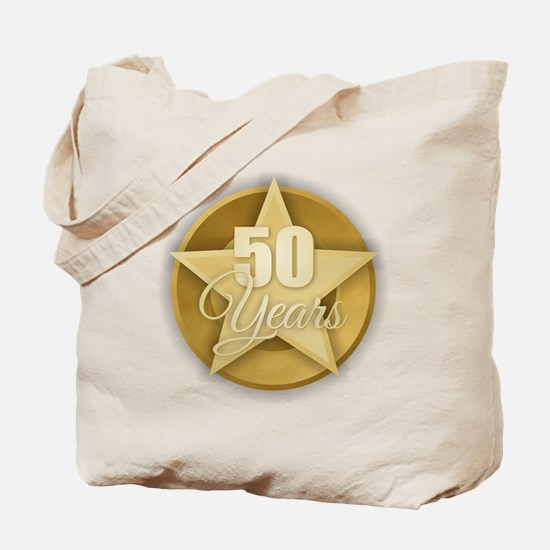 Gold 50 Years Tote Bag
