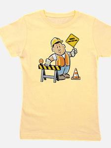 Cute Construction worker Girl's Tee