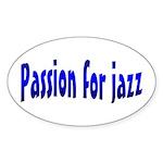 Jazz Oval Sticker